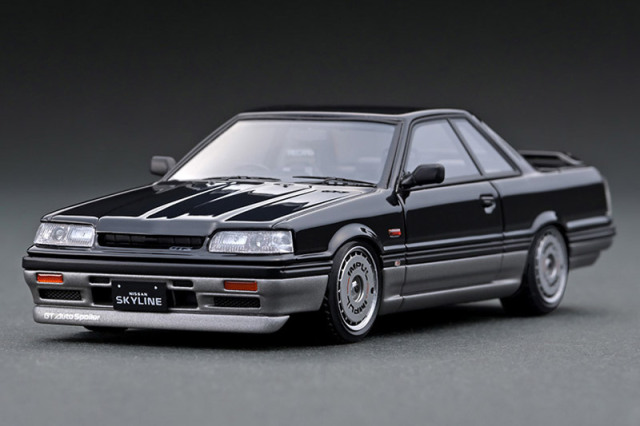 [取り寄せ] イグニッションモデル 1/43 ニッサン スカイライン GTS R31 ブラック/ガンメタリック IG2089