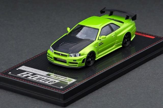 [予約] イグニッションモデル 1/64 ニスモ R34 GT-R Z-tune メタリックグリーン IG2126