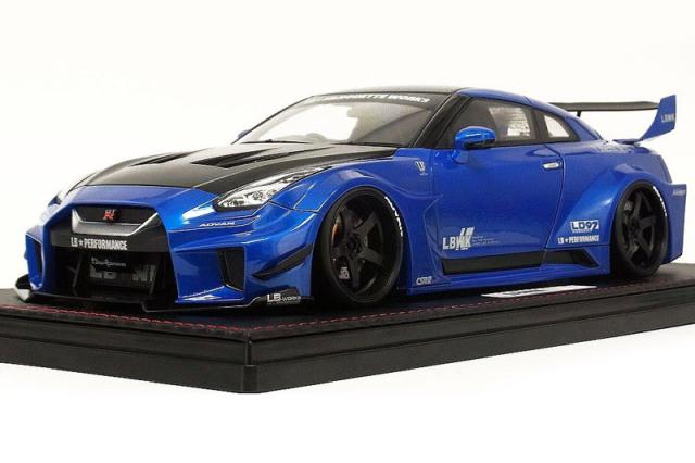 [予約] イグニッションモデル 1/18 LB-Silhouette WORKS GT ニッサン 35GT-RR メタリックブルー IG2355