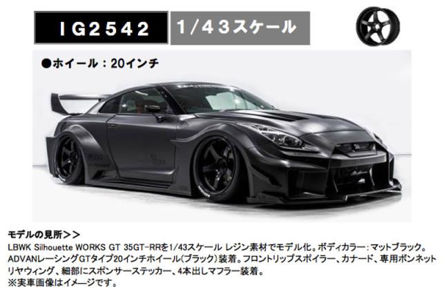 [予約] イグニッションモデル 1/43 LB-Silhouette WORKS GT ニッサン 35GT-RR マットブラック IG2542