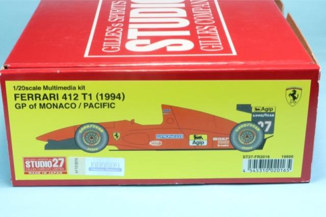 スタジオ27 1/20 レジンキット フェラーリ 412 T1 モナコGP/パシフィックGP 1994 FR2016