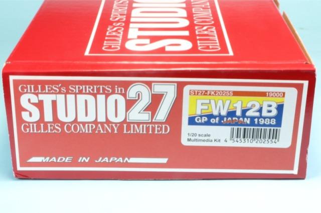 スタジオ27 1/20 レジンキット ウィリアムズ FW12B 日本GP 1988 FK20255