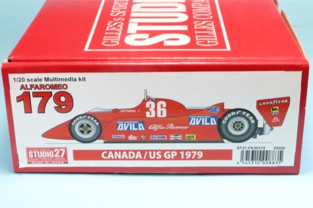 スタジオ27 1/20 レジンキット アルファロメオ 179 カナダGP/US.GP 1979 FK20315
