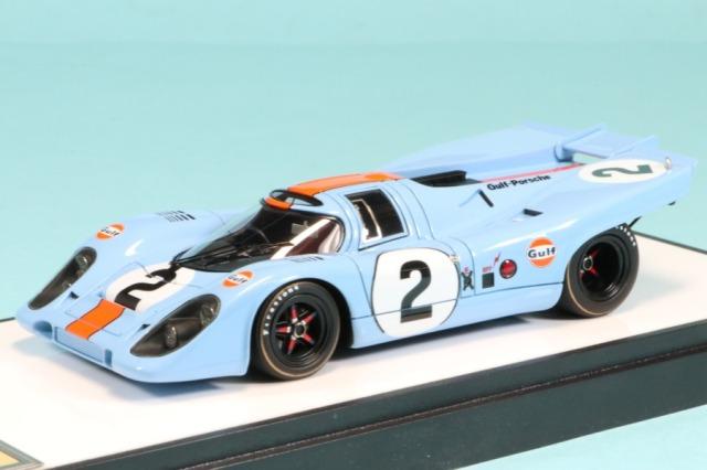 """ヴィジョン 1/43 ポルシェ 917K """"ガルフレーシング・ジョン ワイヤ オートモーティブ"""" デイトナ 24h 1971 No.2 ウィナー (限定180台、国内販売90台) VM211A"""