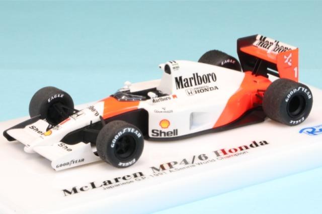 ロムファクトリー 1/43 マクラーレン MP4/6 ホンダ 日本GP 1991 A.セナ ワールドチャンピオン RFTMK149_KC