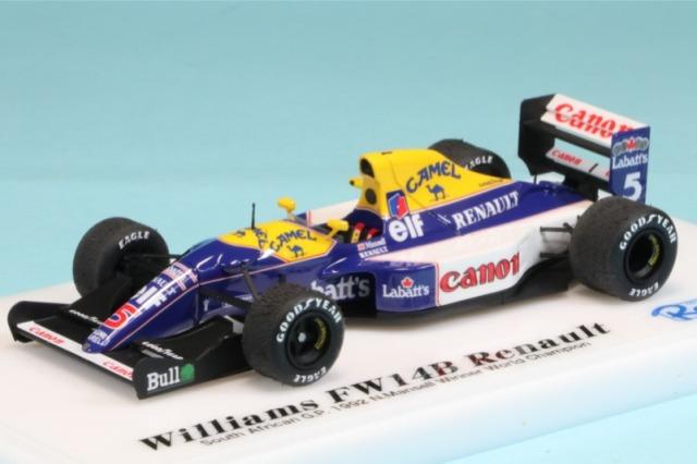 ロムファクトリー 1/43 ウィリアムズ FW14B ルノー 南アフリカGP 1992 N.マンセル ウィナー RFTMK153_KC