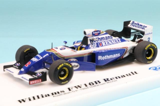 ロムファクトリー 1/43 ウィリアムズ FW16B ルノー オーストラリアGP 1994 N.マンセル ウィナー RFTMK190_KC