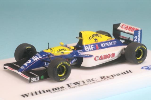 ロムファクトリー 1/43 ウィリアムズ FW15C 1993 ワールドチャンピオン A.プロスト RFTMK167MT