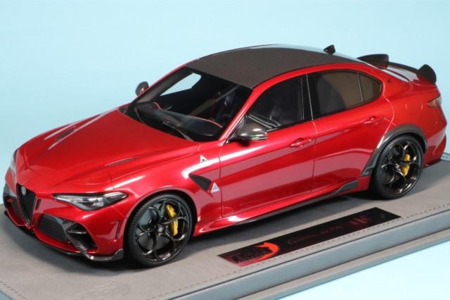 BBR 1/18 アルファロメオ ジュリア GTA レッド/イエローキャリパー ディスプレイケース付き BBRC1851A1