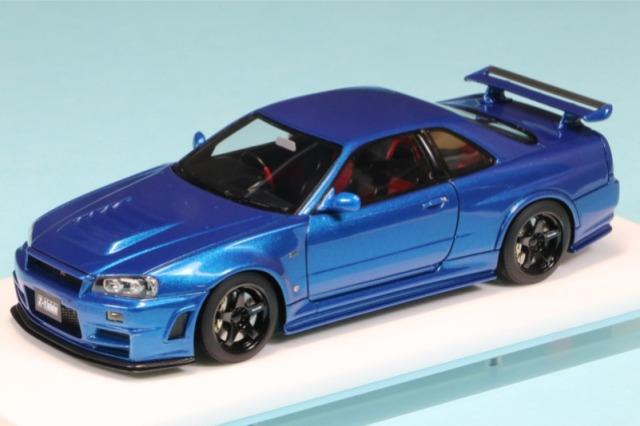 アイドロン 1/43 ニスモ R34 GT-R Z-tune  ベイサイドブルー EM396B