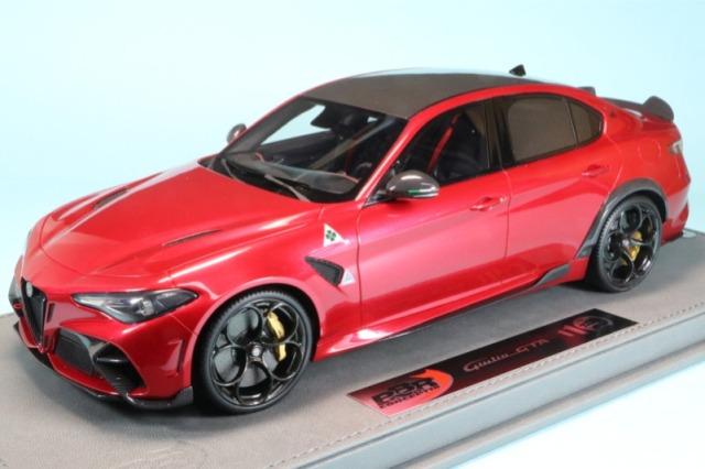 BBR 1/18 アルファロメオ ジュリア GTA レッド/ゴールドキャリパー ディスプレイケース付き BBRC1851