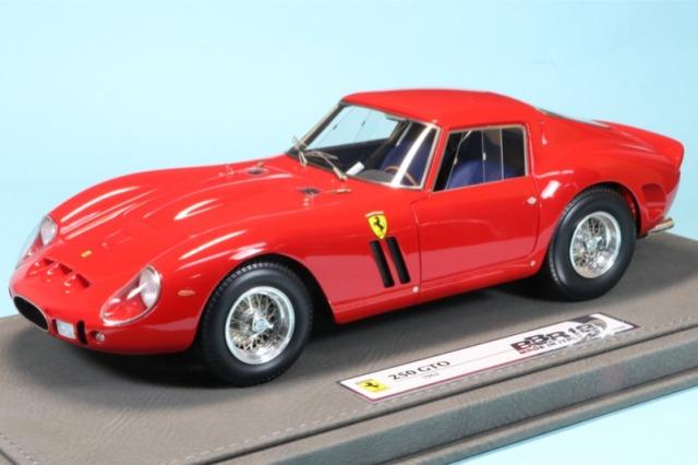 BBR 1/18 フェラーリ 250 GTO 1962 レッド ディスプレイケース付 限定300台 (イタリア製) BBR1807V
