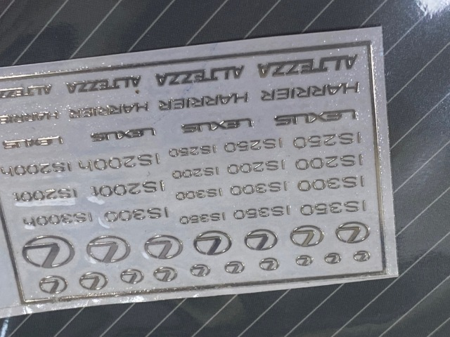 ZoomOn 1/24 1/43 1/64 レクサス メタルロゴステッカー ZD022