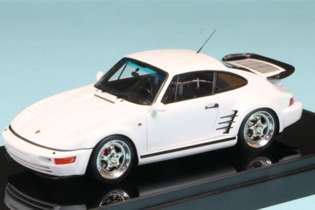 ヴィジョン 1/43 ポルシェ 911(964) ターボ S エクスクルーシブ フラットノーズ 1994(日本仕様) パールホワイト (ブラックインテリア)  VM161D