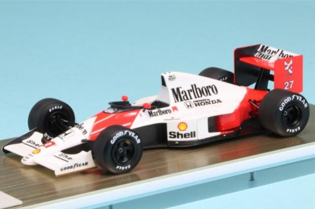 アイドロン 1/43 マクラーレン ホンダ MP4/5B 日本GP 1990 No.27 A.セナ ワールドチャンピオン デカール加工品 FE019AS