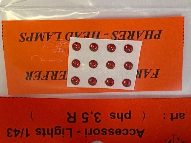 トロン ライトレンズ レッド 丸形 3,5mm 12個入り phs03_5R