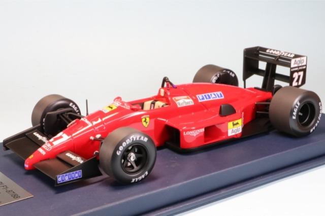 ルックスマート 1/18 フェラーリ F187/88C イタリアGP 1988 ミケーレ アルボレート 2nd ディスプレイケース付 デカール加工品 LSF1H09S