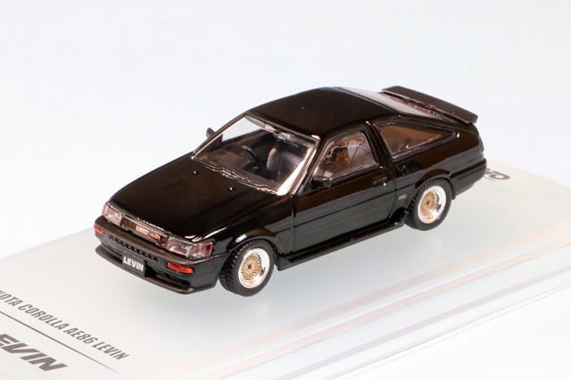 イノモデル 1/64 トヨタ カローラ AE86 レビン ブラック IN64-AE86-BLA