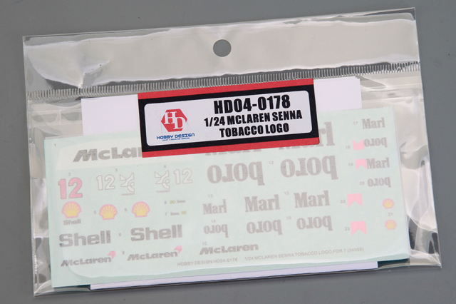 ホビーデザイン 1/24 マクラーレンセナ用  MP4/4モチーフ  マルボロデカール HD04-0178