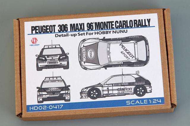 ホビーデザイン 1/24 プジョー 306 マキシ WRC モンテカルロ 1996 ディティールアップパーツ (nunu対応) HD02-0417