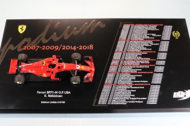 """BBR 1/43 フェラーリ SF71-H アメリカGP 2018 K.ライコネン ウィナー """"ポディウム"""" 限定159台 STORE74 STORE74"""