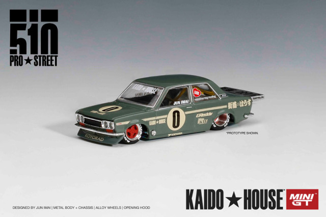 [予約] KAIDO HOUSE × MINI-GT 1/64 ダットサン 510 プロストリート OG グリーン (左ハンドル) KHMG001
