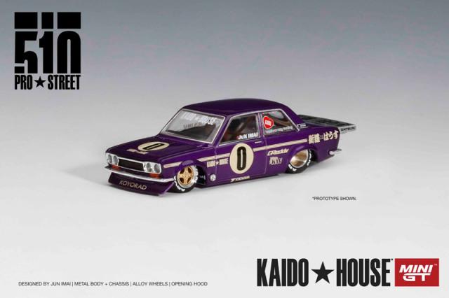 [予約] KAIDO HOUSE × MINI-GT 1/64 ダットサン 510 プロストリート OG パープル (左ハンドル) KHMG002