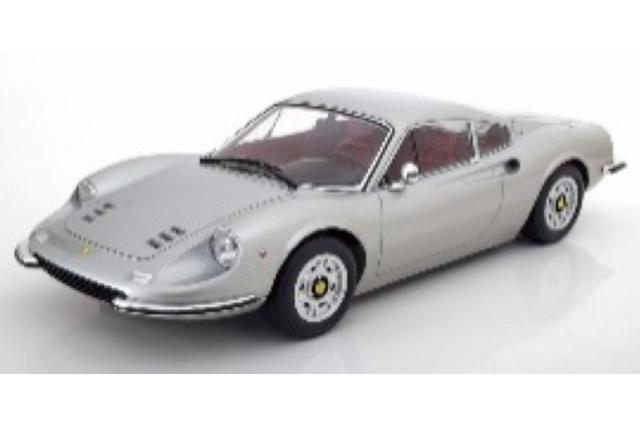 [予約] KKスケール 1/12 フェラーリ ディノ 246GT 1973 シルバー KKDC120023