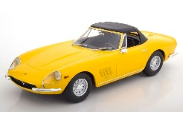 [予約] KKスケール 1/18 フェラーリ 275 GTB/4 NART スパイダー 1967 アロイリム イエロー KKDC180232