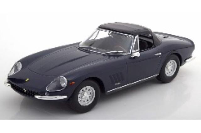 [予約] KKスケール 1/18 フェラーリ 275 GTB/4 NART スパイダー 1967 アロイリム ダークブルー KKDC180233