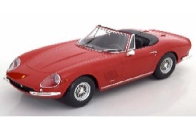 [予約] KKスケール 1/18 フェラーリ 275 GTB/4 NART スパイダー 1967 スポークリム レッド KKDC180234
