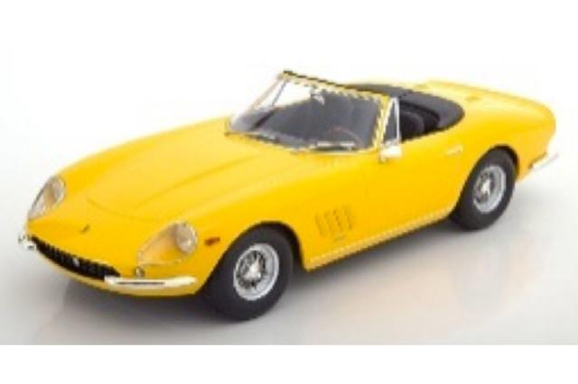 [予約] KKスケール 1/18 フェラーリ 275 GTB/4 NART スパイダー 1967 スポークリム イエロー KKDC180235