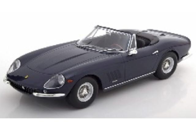 [予約] KKスケール 1/18 フェラーリ 275 GTB/4 NART スパイダー 1967 スポークリム ダークブルー KKDC180236