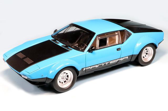 [予約] 京商 1/18 デ トマソ パンテーラ GT4 ブルー/ブラック KS08853BL