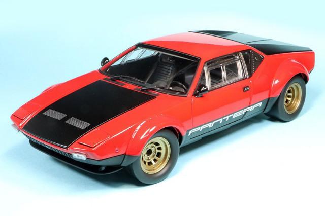 京商 1/18 デ トマソ パンテーラ GT4 レッド/ブラック KS08853R