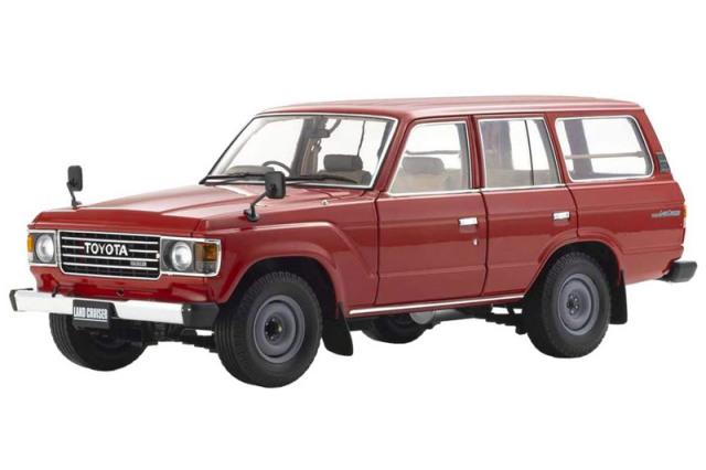 [予約] 京商 1/18 トヨタ ランドクルーザー 60 レッド KS08956R