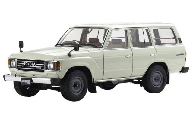 [予約] 京商 1/18 トヨタ ランドクルーザー 60 ホワイト KS08956W