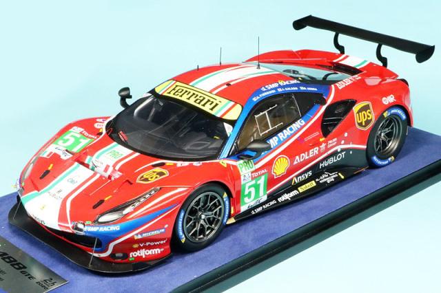"""ルックスマート 1/18 フェラーリ 488 GTE Evo """"AF Corse"""" ルマン 24h 2020 No.51 LS18LM023"""