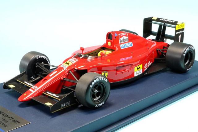 ルックスマート 1/18 フェラーリ 641/2 フランスGP 1990 Winner アラン・プロスト 「フェラーリ100勝」 ディスプレイケース付 LSF1H11S