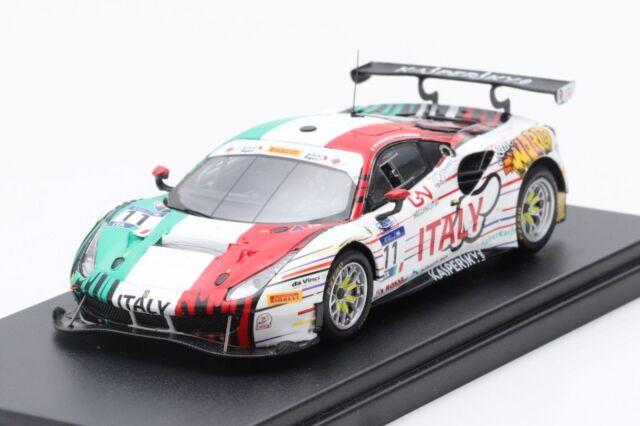 [予約] ルックスマート 1/43 フェラーリ 488 GT3 FIA-GT バーレーン 2018 No.11 LSRC065