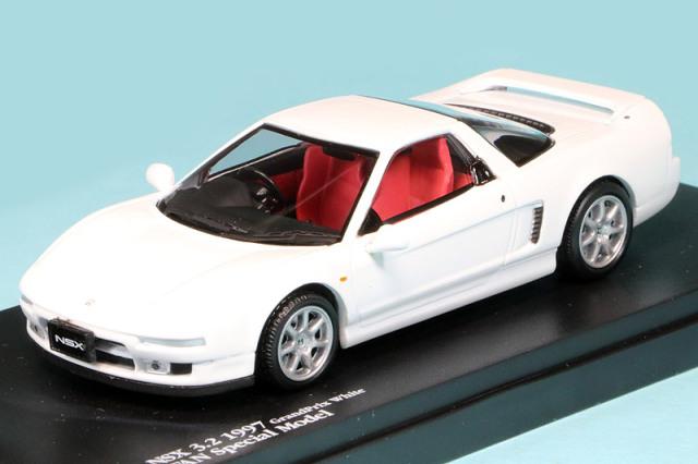 ミニカーファン特注 1/43 ホンダ NSX 3.2 1997 グランプリホワイト MFSM1417