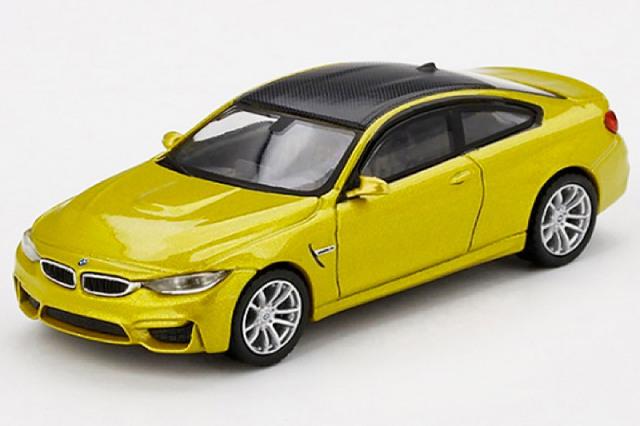 [予約] MINI-GT 1/64 BMW M4 F82 オースティンイエローメタリック (左ハンドル) MGT00143-L