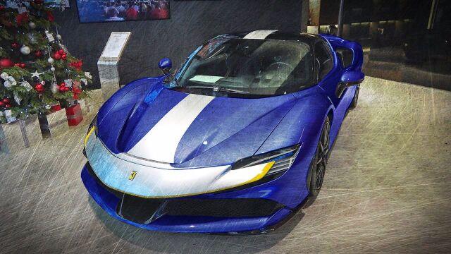 [予約] MRコレクション 1/18 フェラーリ SF90 ストラダーレ エレクトリックブルー  FE028I