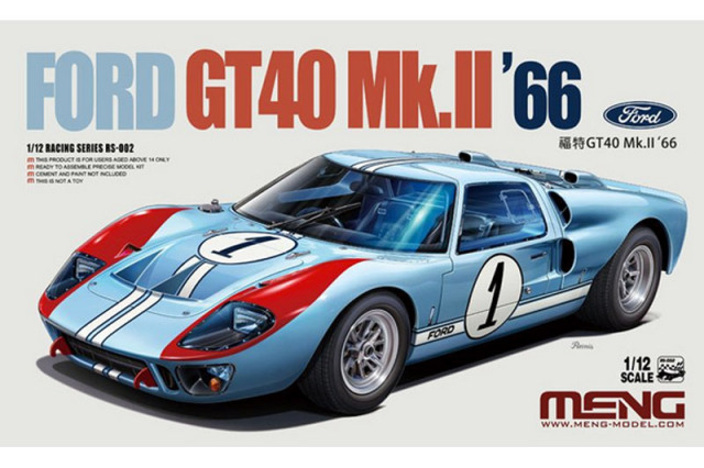 モンモデル 1/12 プラモデル フォード GT40 Mk.II 1966 No.1 MRS002