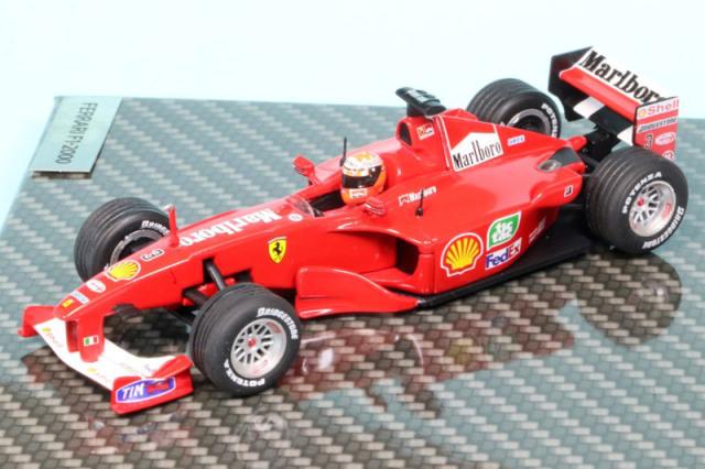 シューマッハショップ特注イクソ 1/43 フェラーリ F1-2000 ヨーロッパGP 2000 Winner M.シューマッハ デカール加工品 MS-F12000-00AS