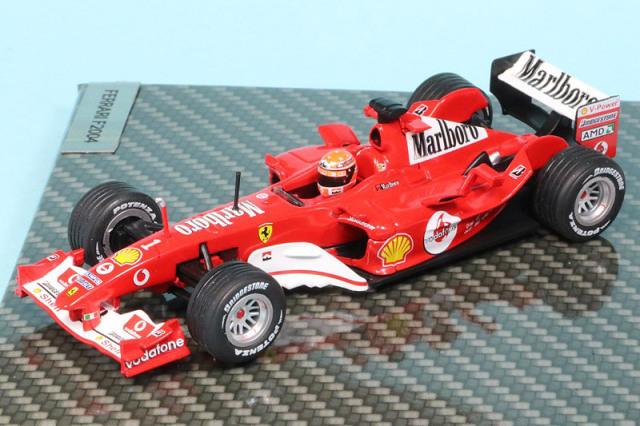 シューマッハショップ特注イクソ 1/43 フェラーリ F2004 日本GP 2004 Winner M.シューマッハ デカール加工品 MS-F2004-04AS
