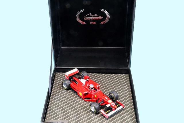 シューマッハショップ特注イクソ 1/43 フェラーリ F300 フランスGP 1998 Winner M.シューマッハ MS-F300-98A