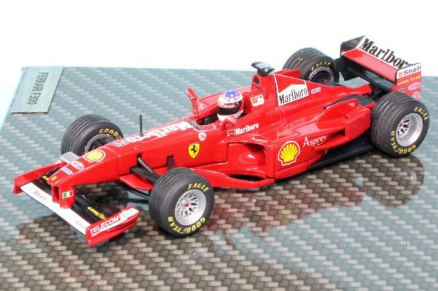 シューマッハショップ特注イクソ 1/43 フェラーリ F300 フランスGP 1998 Winner M.シューマッハ デカール加工品 MS-F300-98AS
