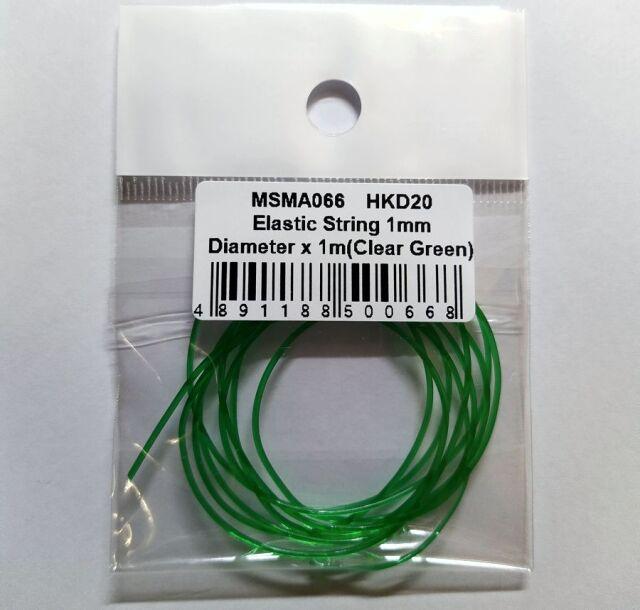 MSMクリエイション クリアチューブ グリーン 1mm × 1m MSMD066