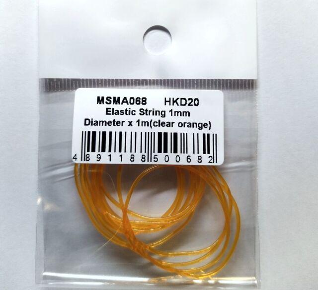 MSMクリエイション クリアチューブ オレンジ 1mm × 1m MSMDA68